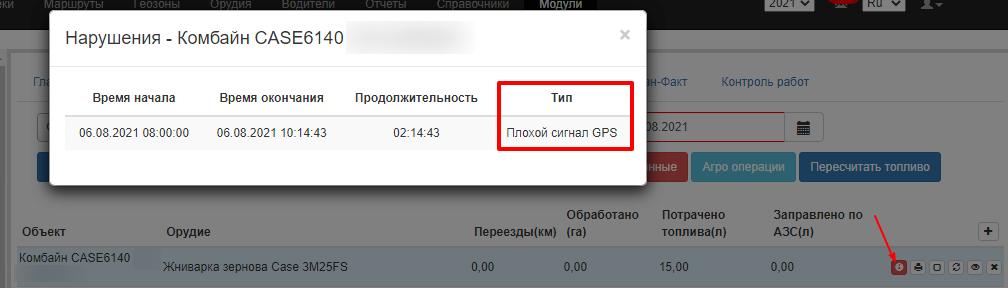 контроль GPS